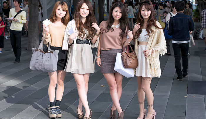 Mulheres no Tinder em Tokyo Japão