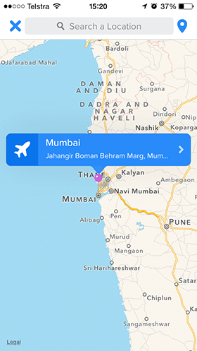 Tinder-location-Mumbai-India