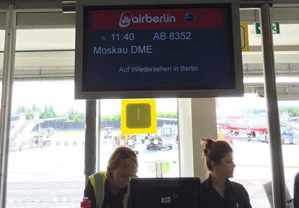 Aeroporto de Berlin a caminho de Moscou
