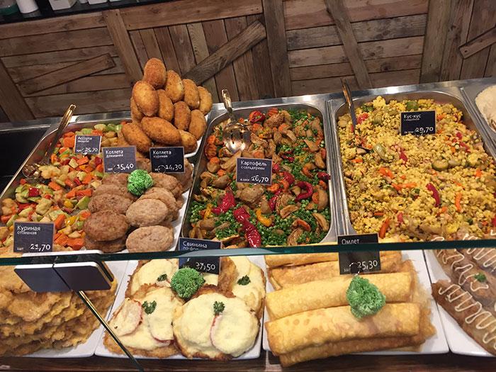 A comida do buffet