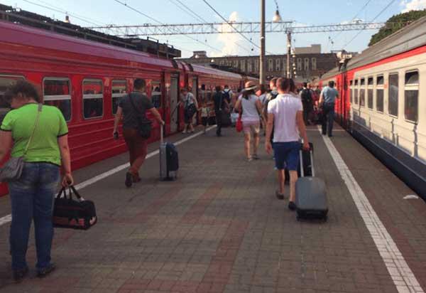 Estação de trem em Moscou