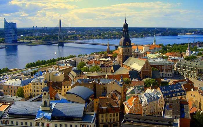 Foto da cidade de Riga na Europa
