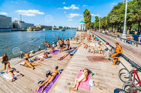 Verão no Gorky Park de Moscou