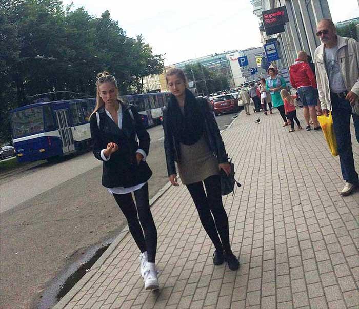Lindas estudantes letonianas
