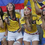 Lindas mulheres em Bogotá, capital da Colômbia