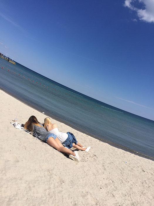 A praia de Arkadia