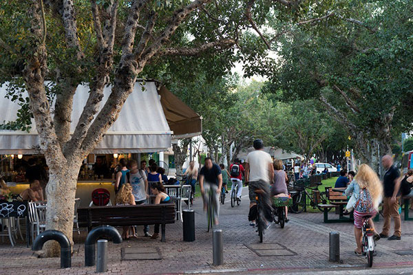 Rothschild Boulevar em Tel Aviv