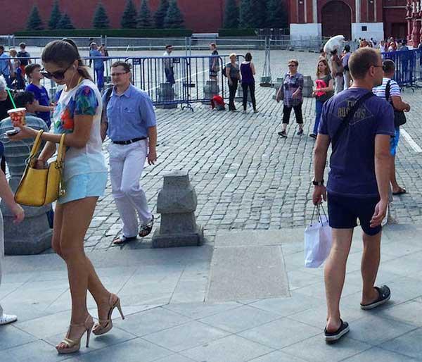Russa deliciosa passeado em Moscou