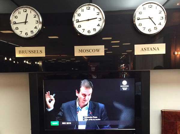 Sorteio das Olimpíadas na TV do meu hotel