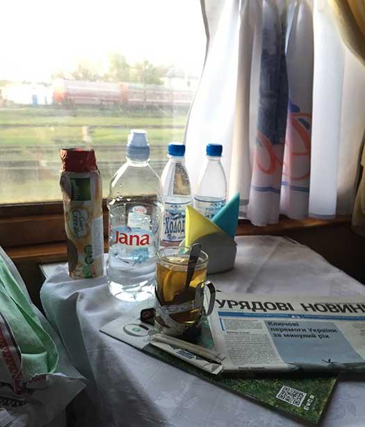 Viagem de trem da Hungria para a Ucrania