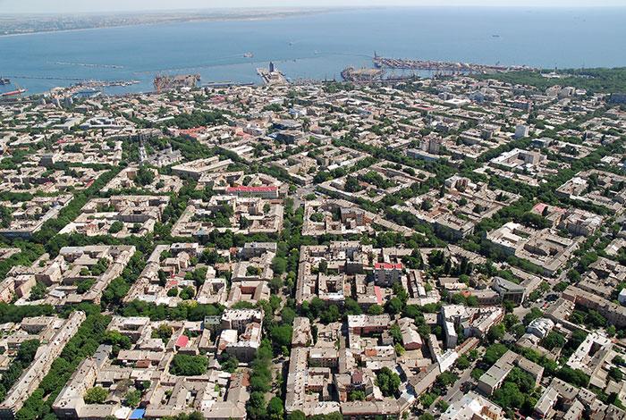 Visão aérea de Odessa