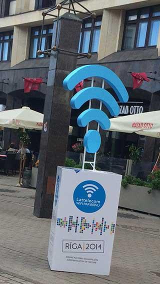 Ruas de Riga com WiFi em 2014
